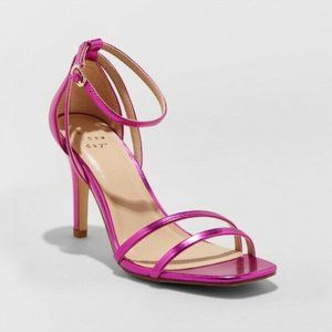 Womans Kayce Strappy Stiletto Heeled Pumps 7